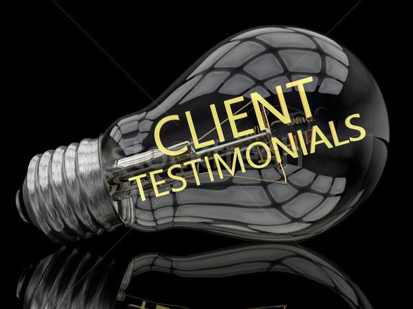 Client Testimonials Stock photo © Mazirama