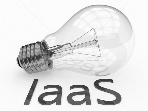 Infrastruktúra szolgáltatás villanykörte fehér szöveg 3d render Stock fotó © Mazirama