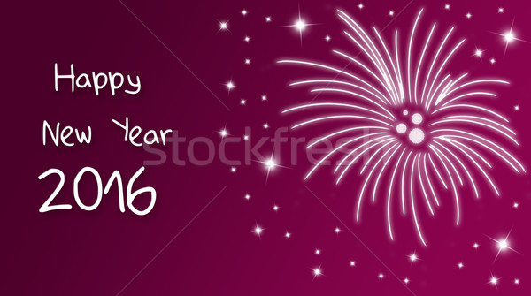 Silvester greeting card 2016 Stock photo © Mazirama