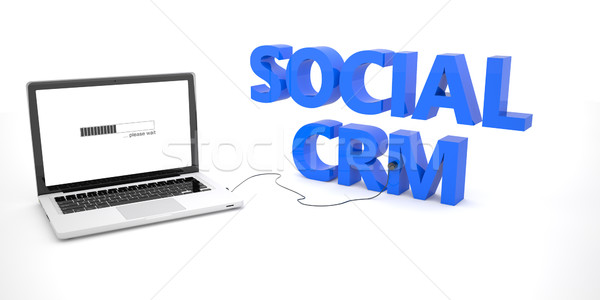 Sociale crm laptop notebook computer parola Foto d'archivio © Mazirama