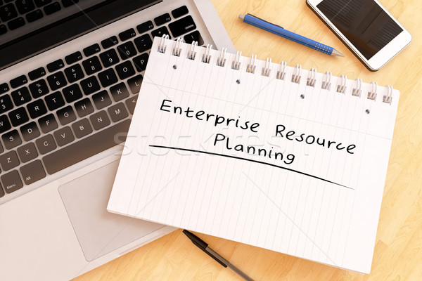 Entreprise ressource planification texte portable Photo stock © Mazirama