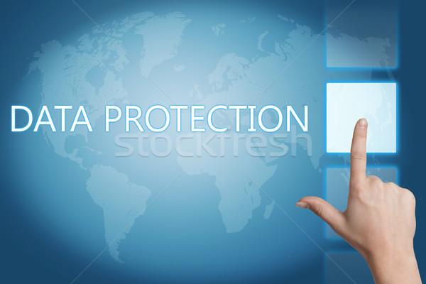 データ保護 セキュリティ 単語 デジタル 世界地図 画面 ストックフォト © Mazirama