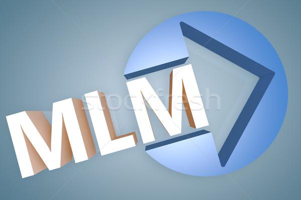 Nível marketing acrônimo 3d render ilustração seta Foto stock © Mazirama
