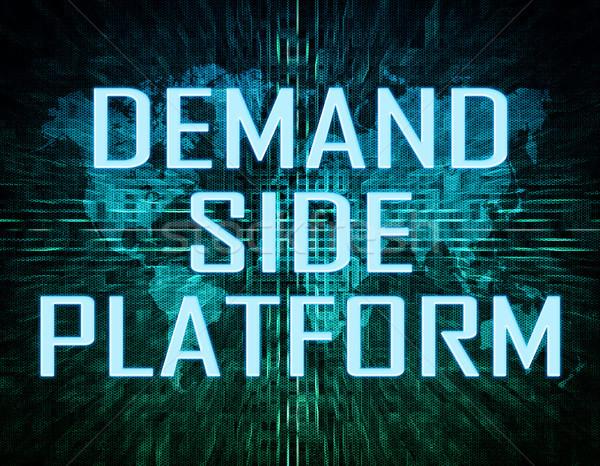 Nachfrage Seite Plattform Text grünen digitalen Stock foto © Mazirama