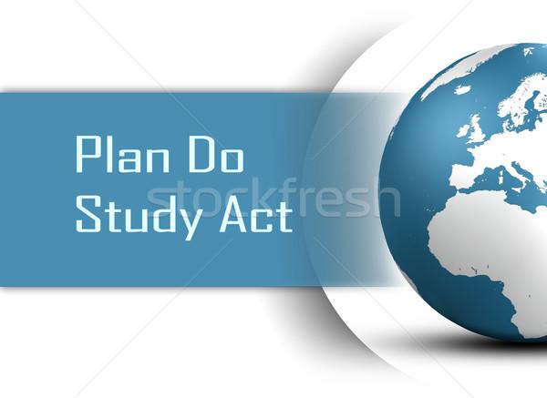плана исследование Закон мира белый работу Сток-фото © Mazirama