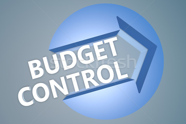 бюджет контроль текста 3d визуализации иллюстрация стрелка Сток-фото © Mazirama