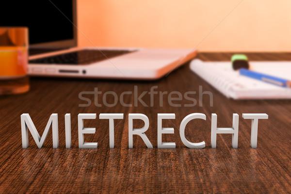 Mietrecht Stock photo © Mazirama