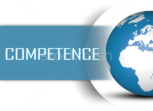 Kompetencja świecie biały komunikacji pojęcia kariery Zdjęcia stock © Mazirama