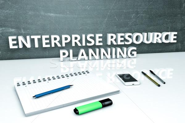 Impresa risorsa pianificazione testo lavagna notebook Foto d'archivio © Mazirama