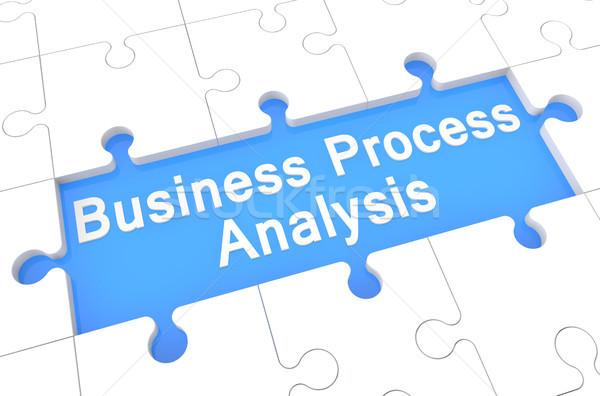 Działalności proces analiza puzzle 3d ilustracja Zdjęcia stock © Mazirama