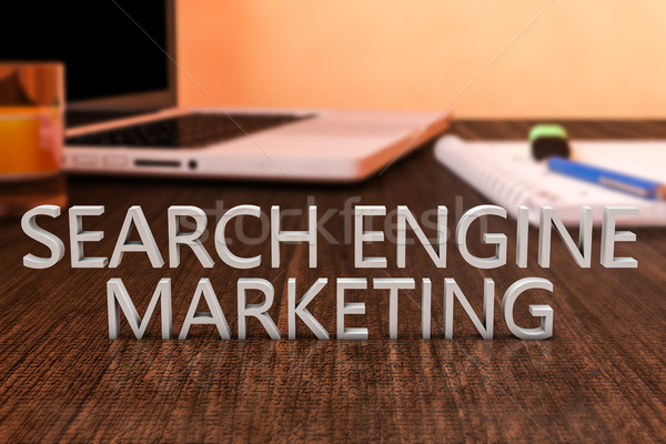 поисковая маркетинга письма столе портативного компьютера Сток-фото © Mazirama