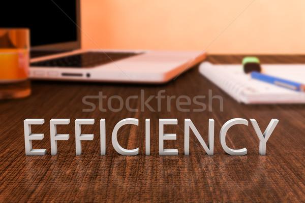 Rendement brieven houten bureau laptop computer notebook Stockfoto © Mazirama