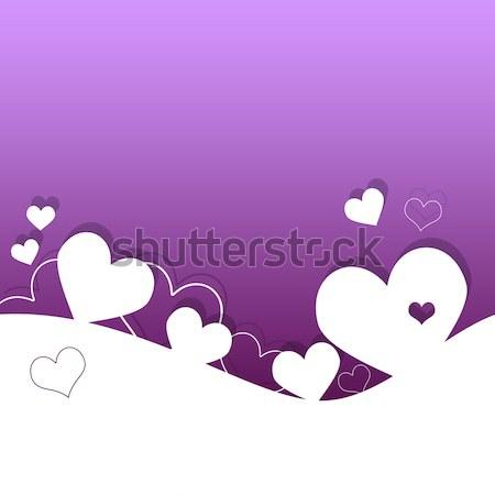 Stok fotoğraf: Sevgililer · günü · kart · kalpler · sevmek · çift · kırmızı
