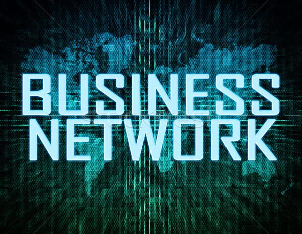 Zdjęcia stock: Business · network · tekst · zielone · cyfrowe · mapie · świata · Internetu