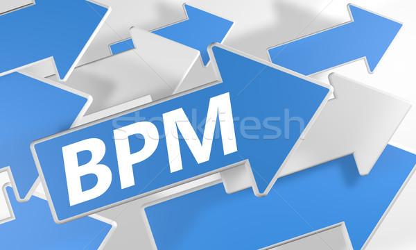 Business processo gestione rendering 3d blu bianco Foto d'archivio © Mazirama