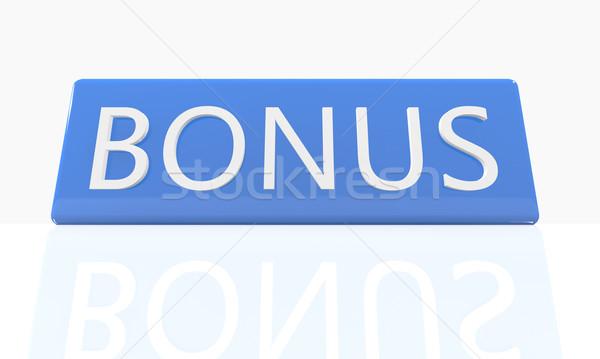 бонус 3d визуализации синий окна текста белый Сток-фото © Mazirama