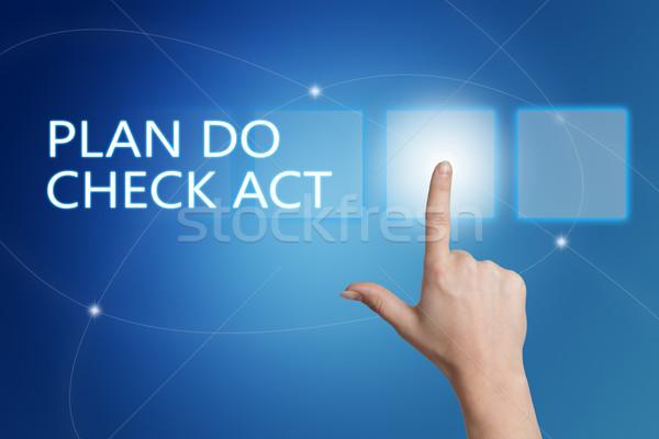 плана проверить Закон стороны кнопки Сток-фото © Mazirama