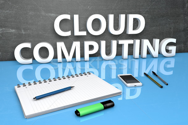 Cloud Computing text concept Stock photo © Mazirama