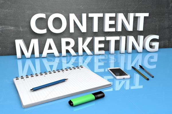 Content Marketing text concept Stock photo © Mazirama