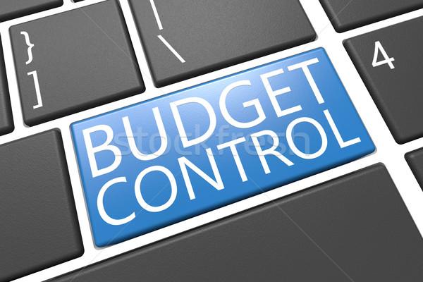 Költségvetés irányítás billentyűzet 3d render illusztráció szó Stock fotó © Mazirama