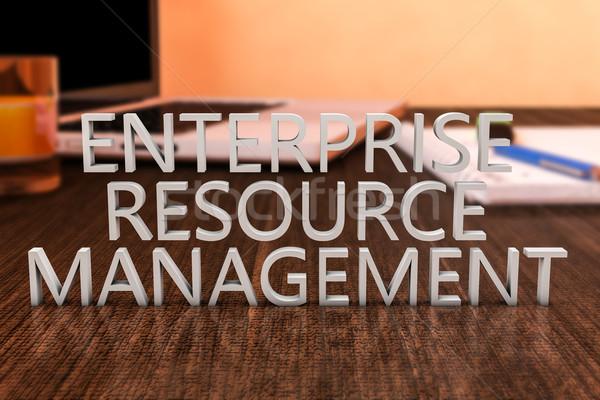 Entreprise ressource gestion lettres bois bureau Photo stock © Mazirama
