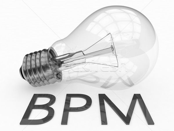 Affaires processus gestion bpm ampoule blanche Photo stock © Mazirama