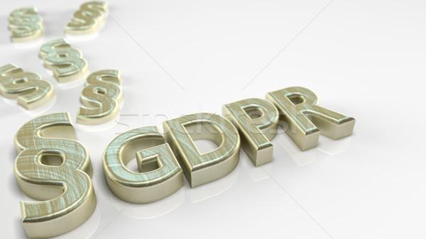 Foto stock: General · regulación · párrafo · blanco · 3d