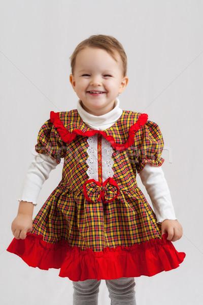 女の子 肖像 幸せ 笑みを浮かべて ブロンド ストックフォト © Mazirama