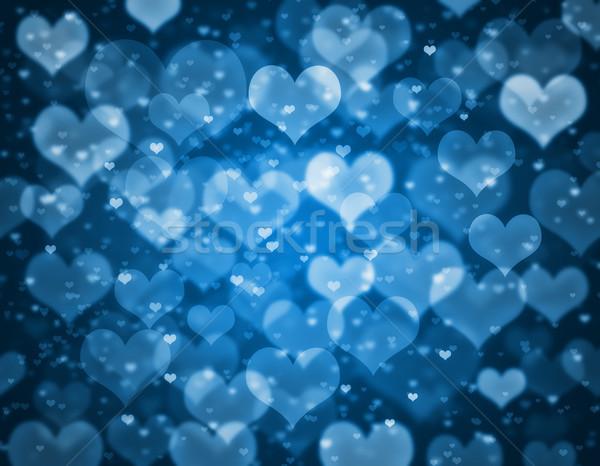 Sevgililer günü kart kalpler sevmek çift renk Stok fotoğraf © Mazirama