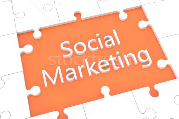 Puzzle social marketing concept Stock photo © Mazirama