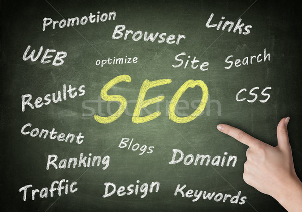 Blackboard SEO Tag Cloud Stock photo © Mazirama
