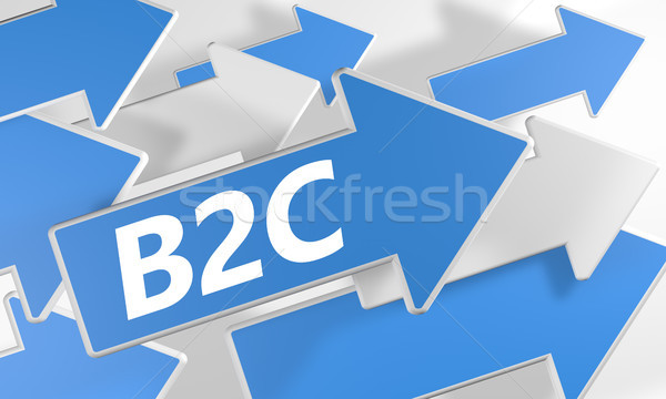 Affaires client rendu 3d bleu blanche Photo stock © Mazirama