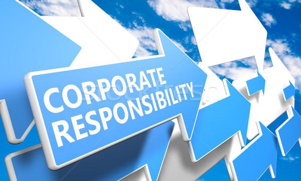Corporate responsabilità rendering 3d blu bianco frecce Foto d'archivio © Mazirama