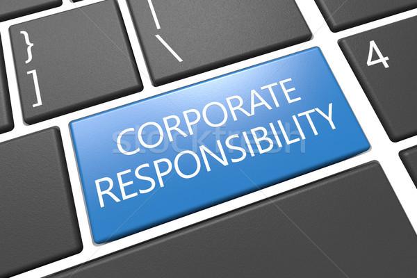 Entreprise responsabilité clavier rendu 3d illustration mot Photo stock © Mazirama