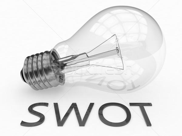 лампочка белый текста 3d визуализации Сток-фото © Mazirama