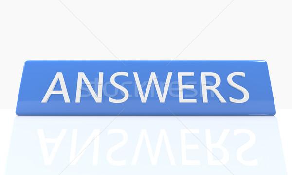Answers Stock photo © Mazirama