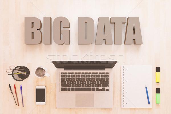 Stockfoto: Groot · gegevens · tekst · notebook · computer · smartphone