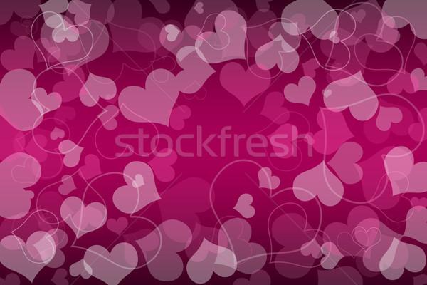 Valentin nap kártya szívek szeretet pár piros Stock fotó © Mazirama