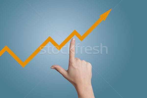 Dengelemek ok parmak nokta diyagram mavi Stok fotoğraf © Mazirama