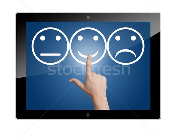 Tablet feedback button Stock photo © Mazirama
