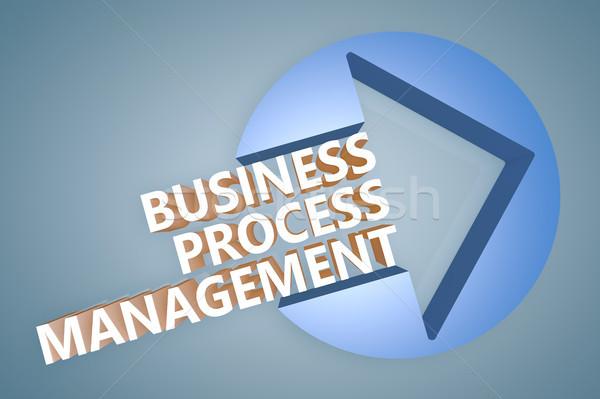 Business processo gestione testo rendering 3d illustrazione Foto d'archivio © Mazirama