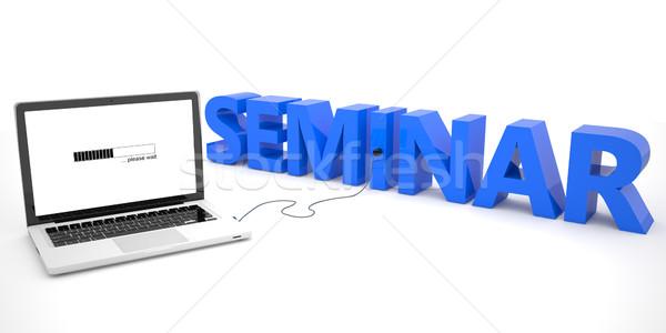 Seminario ordenador portátil palabra blanco 3d ilustración Foto stock © Mazirama