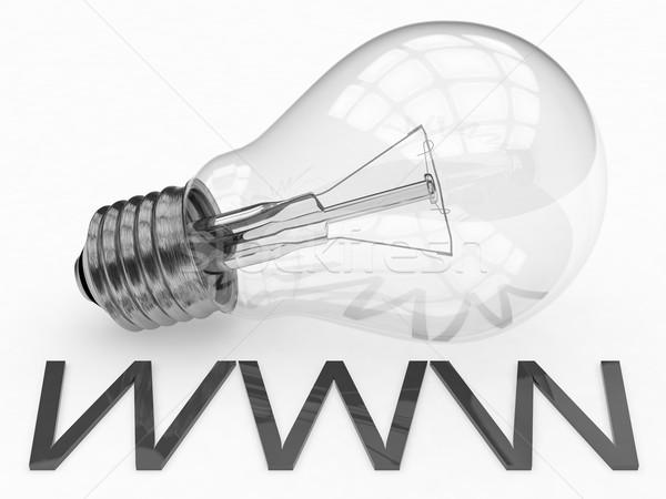 World wide web www lâmpada branco texto 3d render Foto stock © Mazirama