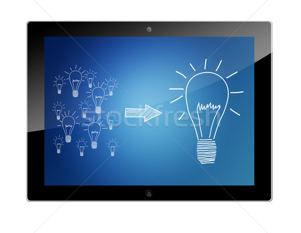 Tablet good ideas Stock photo © Mazirama