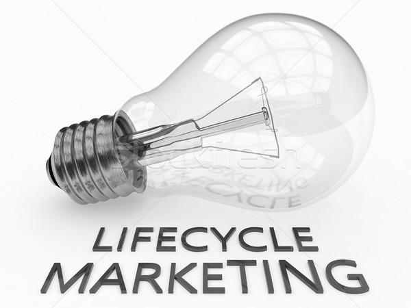 Жизненный цикл маркетинга лампочка белый текста 3d визуализации Сток-фото © Mazirama
