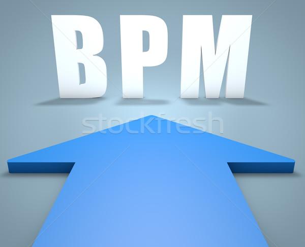 Iş süreç yönetim bpm 3d render mavi Stok fotoğraf © Mazirama