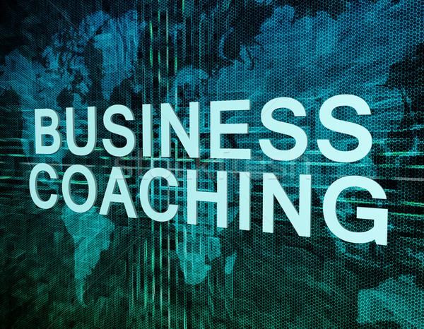 ビジネス コーチング 文字 緑 デジタル 世界地図 ストックフォト © Mazirama