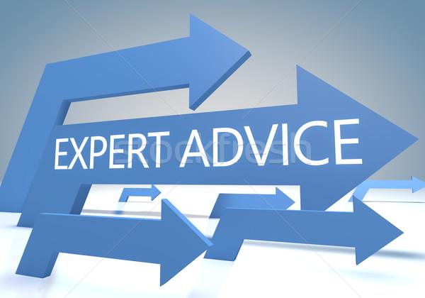 Expert advies geven Blauw pijlen business Stockfoto © Mazirama