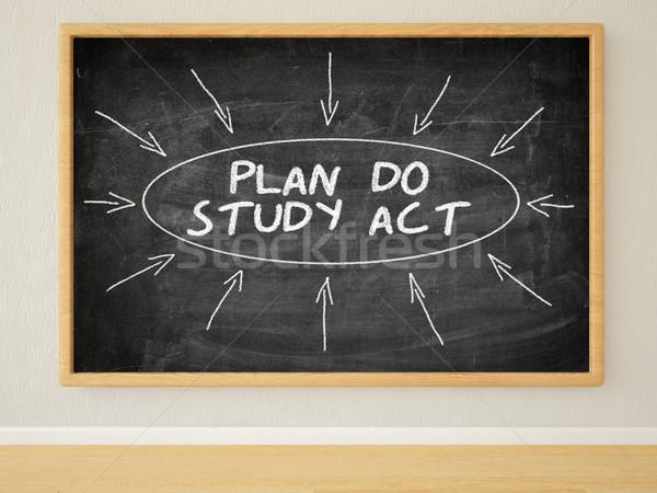 Plan badania akt 3d ilustracja tekst Zdjęcia stock © Mazirama