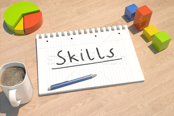 Skills text concept Stock photo © Mazirama